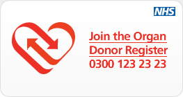 Join the Organ Donor Register 0300 123 23 23